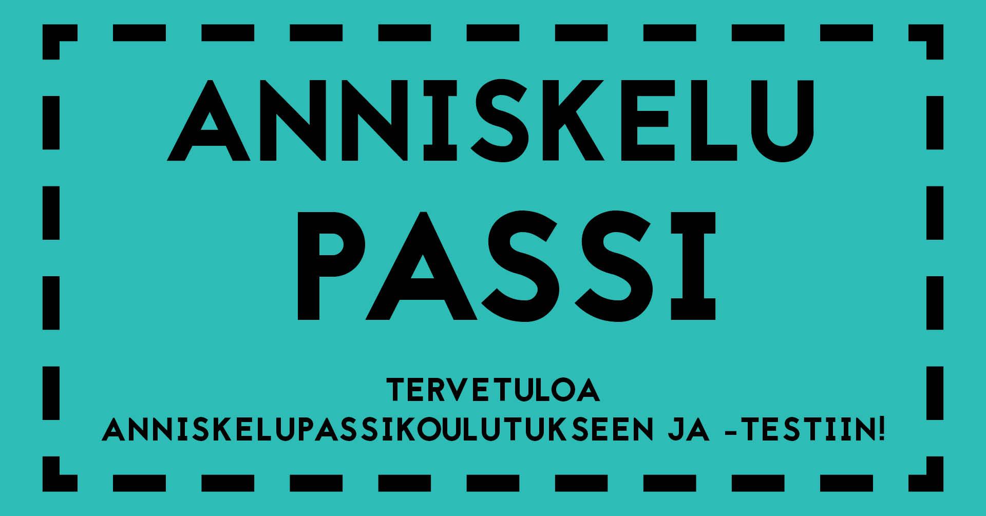 Teksti: Anniskelupassi - tervetuloa anniskelupassikoulutukseen ja -testiin!
