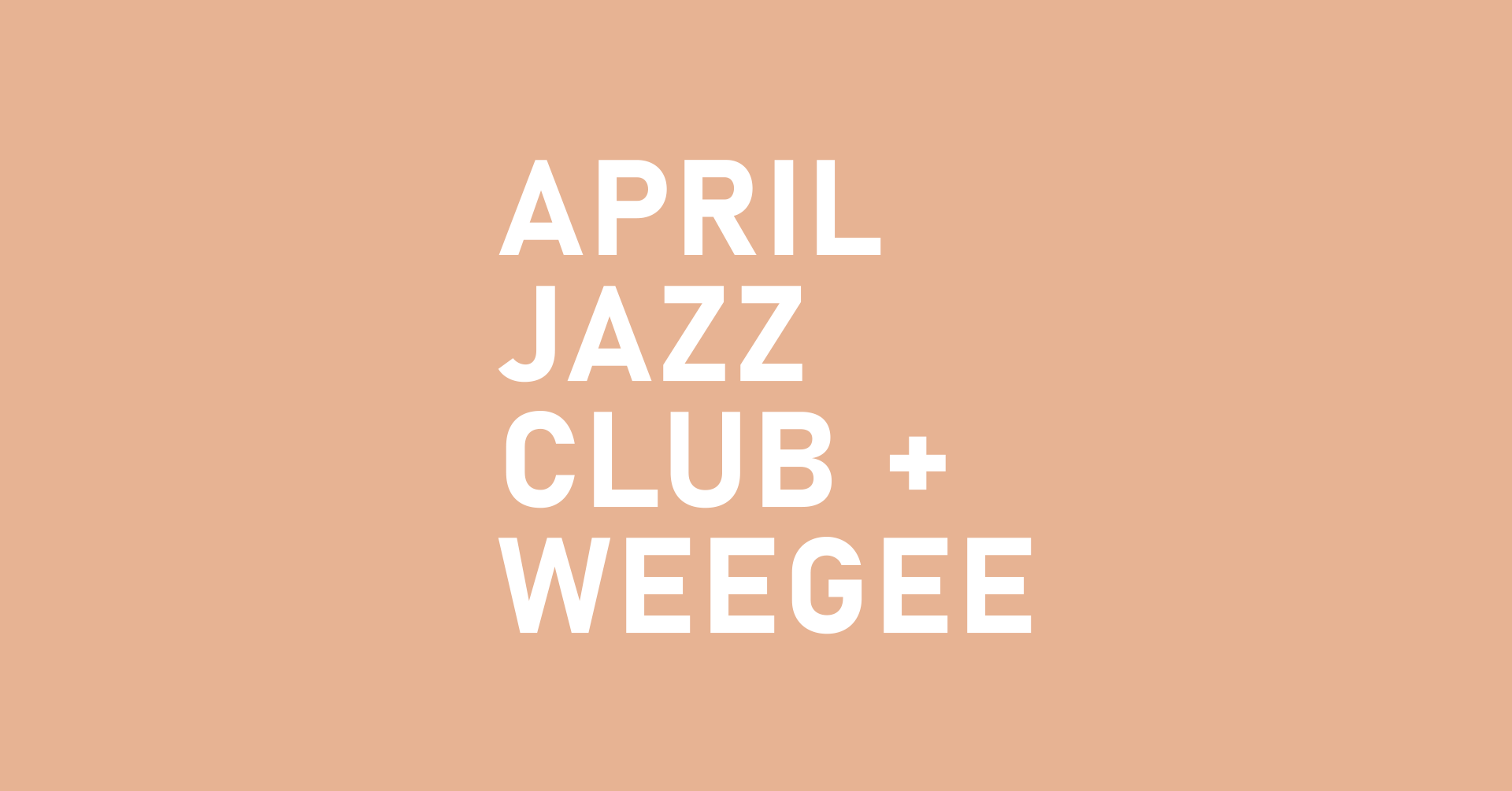 April Jazz Club + WeeGee -logo